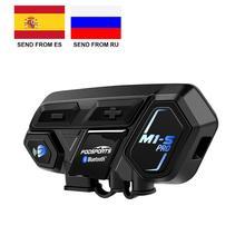 Fodsports Casco de moto intercomunicador M1 S Pro, auricular bluetooth, permite hasta 8 dispositivos en distancia máximas de 2000m
