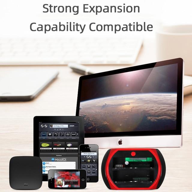 TISHRIC 올인원 3.5 2.5 도킹 스테이션 AU Hdd 듀얼 IDE SATA USB 외장형 HD 박스 인클로저 하드 디스크 드라이브 카드 리더