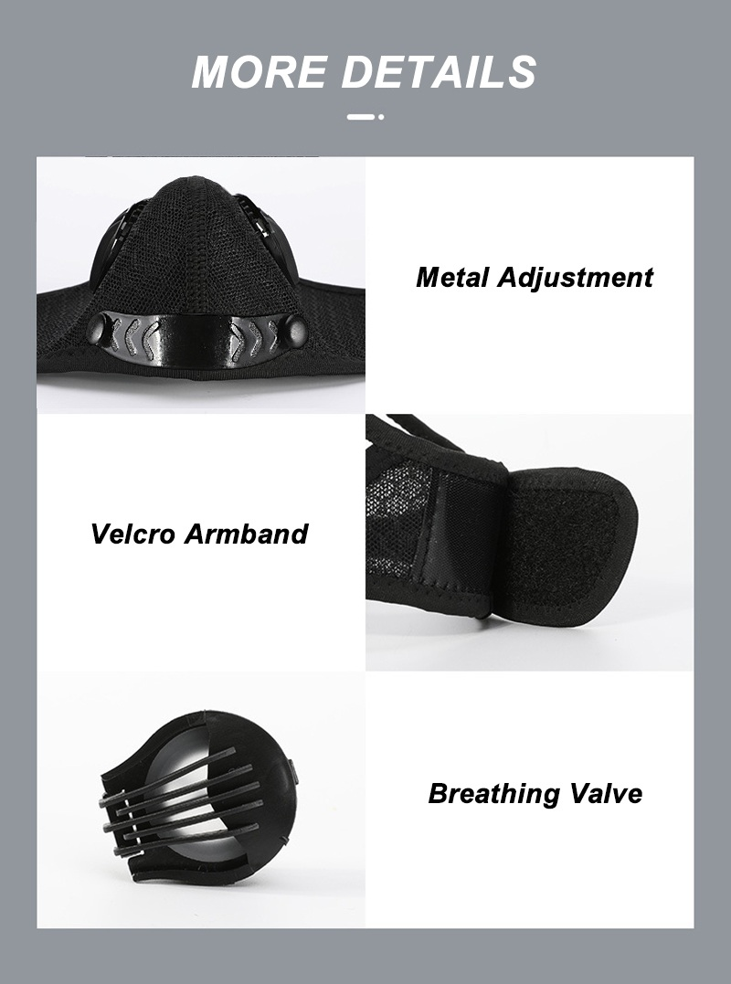 Hd0de790f54ed471ab21d50a8c65455fc2 Bike Face Mask, With Filter Activated Carbon Mesh Cycling Half Facemask for Outdoor Sports,Unisex Dust Reusable