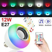 Bluetooth Speakers Light Lamp E27 LED Wireless Bulb Light Speaker RGB Phone Music Control Play Lamp Portable Audio Speakers New