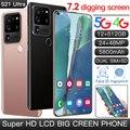Новейшая модель; S21Ultra 7,2 дюймов Full HD Дисплей 12 Гб + 512 Гб 5G пусть смартфонов на базе Android отпечатков пальцев разблокированная MTK6889 10-ядерный моб...