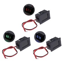 Dc 2 fios 4.5-30v mini display digital led voltímetro volt voltagem medidor de painel de tensão