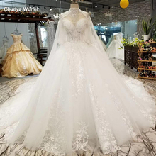 LS85520 necklace decoration off shoulder wedding gown with shoulder chain sweetheart  bridal wedding dress with collars and cape недорого