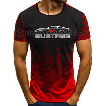 Ford Mustang T-shirt Männer Farbverlauf Kurzarm Bullige Muscle Grund Feste Bluse T Shirt Top Casual Lustige t-shirt Sommer(China)