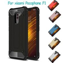 купить 360 Phone case For Xiaomi Pocophone F1 Case Global F 1 Armor Shockproof Back Cover Poco F1 Xiomi Pocophone F1 Silicone Case недорого