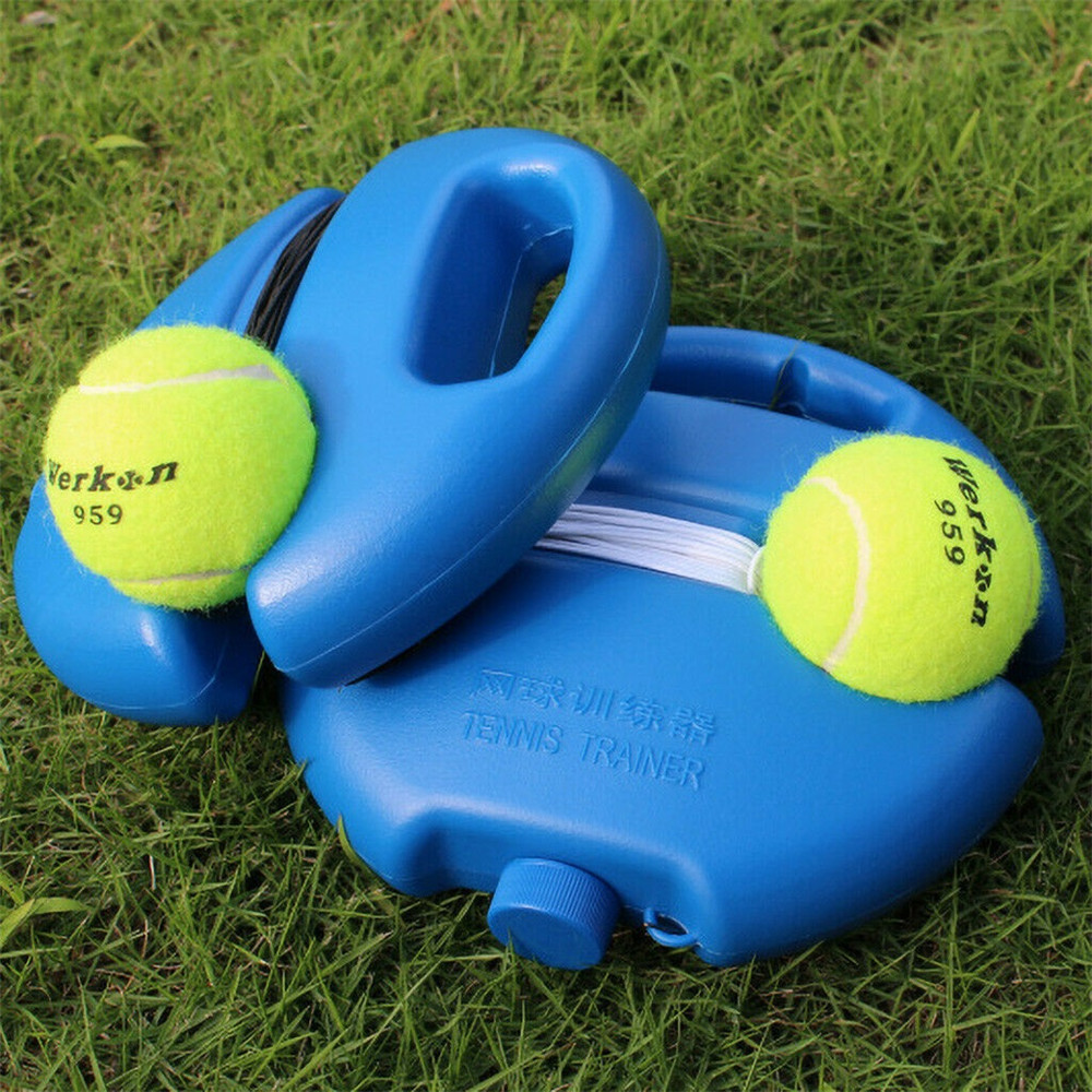 Купить с кэшбэком Portable Tennis Trainer Aids Training Tool With Elastic Rope 3 Balls Practice Self-Duty Rebound Tennis Accessories Net Partner