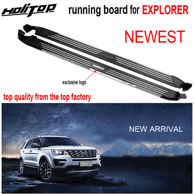 New arrival running board side step side bar for Ford Explorer 2011 2019,Guarantee quality,aluminum alloy baseplate,load 250kg