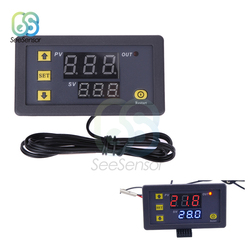 W3230 AC 110V 220V DC 12V 24V LED Digital Temperature Controller Thermostat Heating Cooling Control Switch NTC Sensor Probe