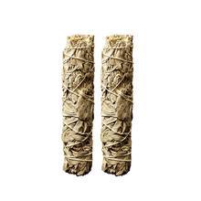2 шт. из натуральной белый полупрозрачный из чистого золота лист для комнаты очистки дымчатый очистки белый мудрец курение Ладан лист A35