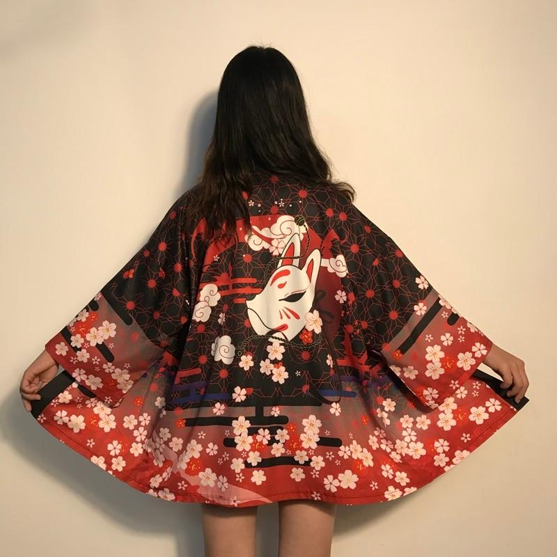 Кимоно Женская японская юката Женская японская одежда кимоно кардиган рубашка женские традиционные японские кимоно Haori FF2682