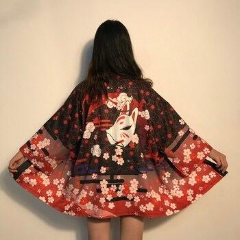 Kimono Women Japanese Yukata Female Women Asian Clothes Kimono Cardigan Shirt Women Traditional Japanese Kimonos Haori FF2682