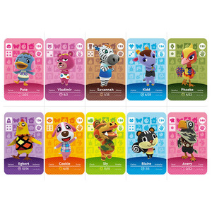Series 2 #127-139 Animal Crossing Cards Amiibo Card Work for Switch 3DS NS Games Invite Animal Cards Amiibo Card