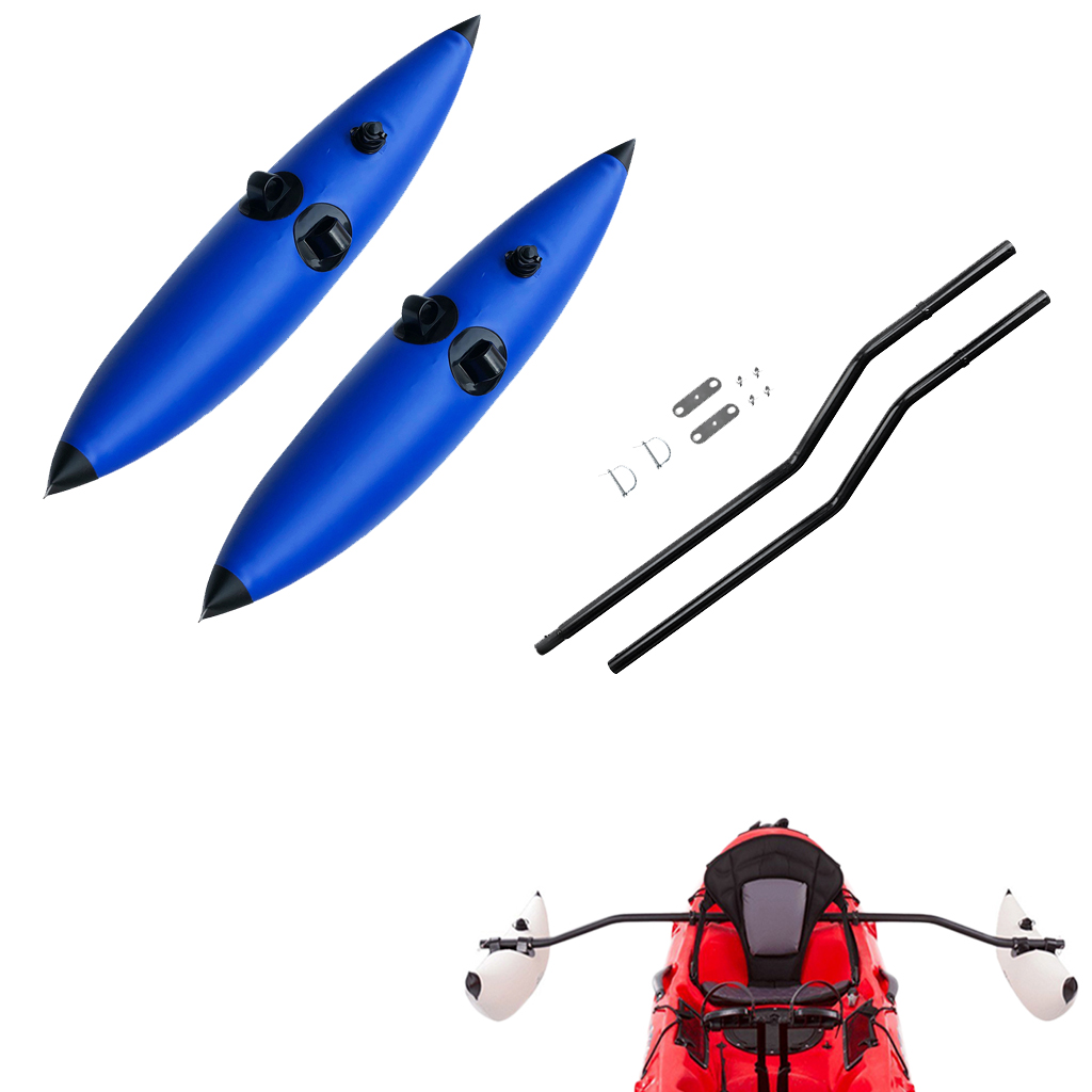 Kayak Canoe Boat 2x Inflatable Outrigger Stabilizer + Inflatable Kayak Outrigger Stabilizer System Accessories