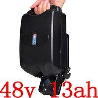 Akumulator 48V 48V 13AH akumulator litowy 48V 10AH 13AH akumulator do rowerów elektrycznych do 48V 500W 750W silnik Ebike z ładowarką 2A w Akumulator do rowerów elektrycznych od Sport i rozrywka na