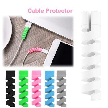 2Pcs Charging Cable Protector Winder Wire Cord Saver For Apple iPhone USB Charger Cable Cord Spiral USB Protective Sleeve