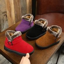 Girls Snow Boots Childrens Rubber 2019 Winter Children Thicken Plush Boys Child Kids Warm Short Shoes