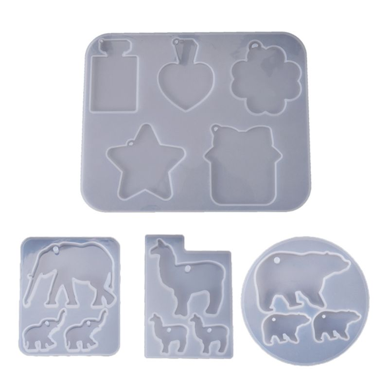 Listing Mold Bottle Star Cloud Elephant Bear Alpaca Listing Collection Mold Silicone Molds For Resin DIY Crystal UV Glue Epoxy