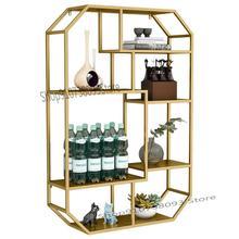 Wine-Rack Shelf Wall-Locker Wall-Hanging Living-Room Lattice Bedroom