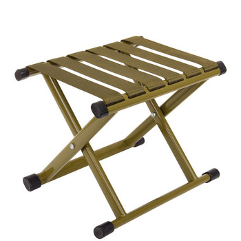 Yooap Portable outdoor folding chair foldable thick steel pipe camping travel military Mazar short stool fishing stool folding stool aluminum alloy mazar portable barbecue fishing chair camping accessories travel mazar for outdoor hiking