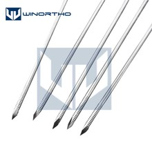 10pcs 1.0mm-3.0x150mm long Nice Stainless steel partial threaded Kirschner wires Veterinary orthopedics Instruments