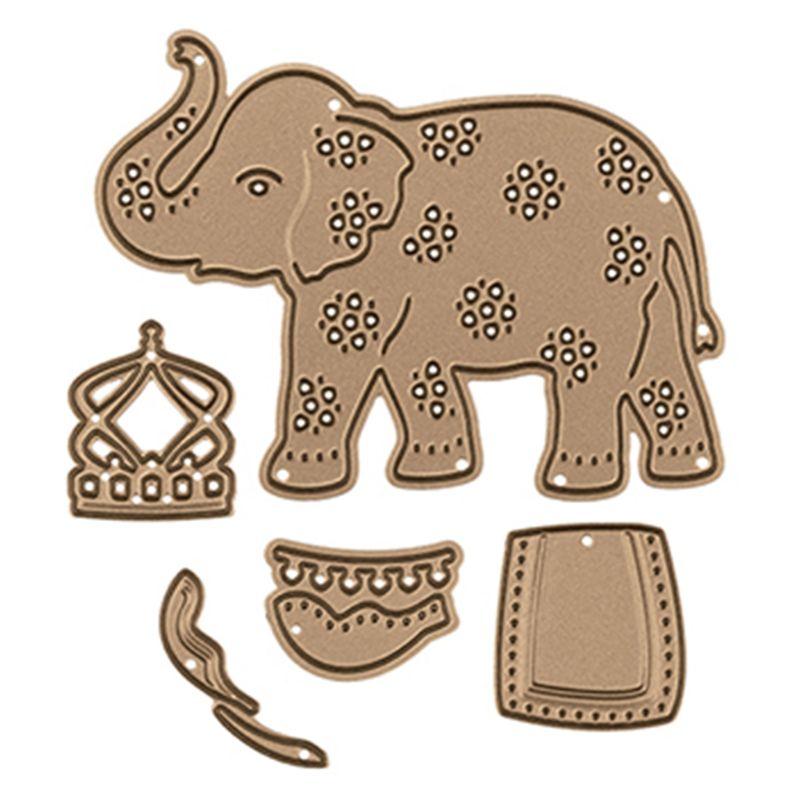 Cute Elephant DIY Metal Cutting Dies Stencil Scrapbooking Album Stamp Paper Card