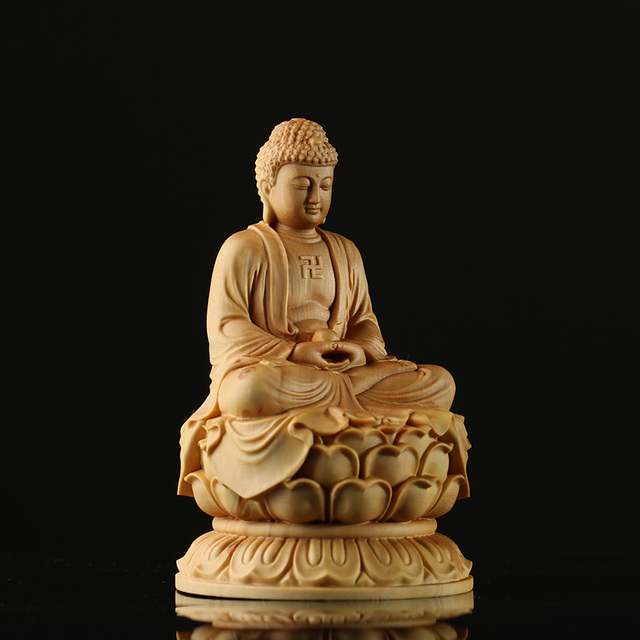 bouddha-sculpté-en-bois-assis-position-lotus-meditation