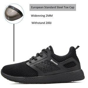 Image 4 - Защитные рабочие ботинки MWSC для мужчин, рабочие ботинки со стальным носком, неразрушаемые защитные ботинки, мужские защитные кроссовки
