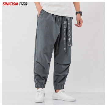 Sinicism Store Men fashion Vinatge Mens 2020 Oversize 5XL Pants Trousers Male Thin embroidery Chinese Style Harem Pants Summer