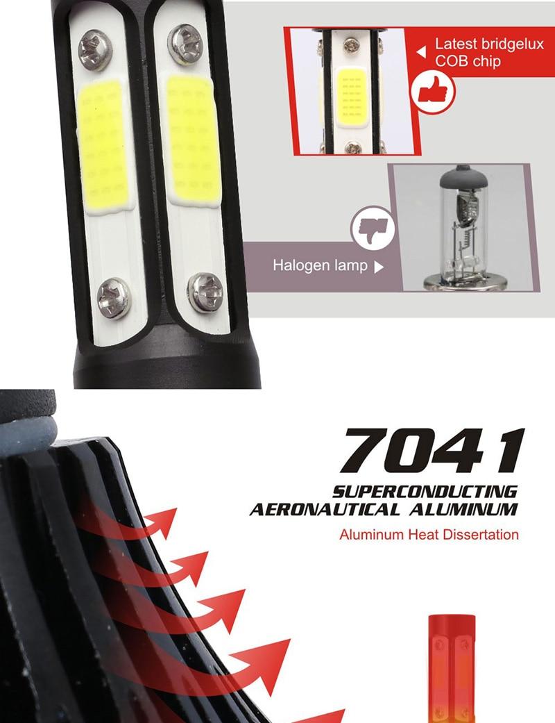 Hd0e03d31c22d45ceae80674453009520z TF30 New 4 Side Lumens COB 100W 10000lm H4 Hi lo H7 H11 9005 9006 Car LED Headlight Bulbs Auto Led Headlamp LED C6 Light 12v 24v