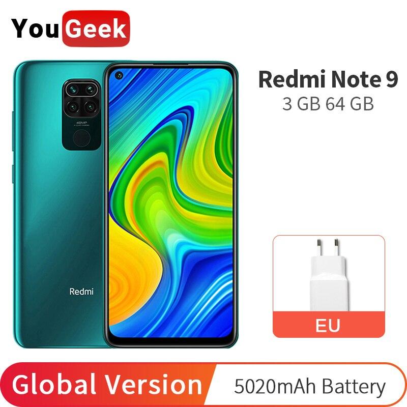 "Global Version Xiaomi Redmi Note 9 64GB 3GB Cellphone 48MP Four Camera MTK Helio G85 Octa Core 5020mAh 6.53"" DotDisplay|Cellphones|   - AliExpress"