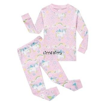 100 Cotton Boys and Girls Long Sleeve Pajamas Sets Children's Sleepwear Kids Christmas Pijamas Infantil Homewear Nightwear - PA13, 3T