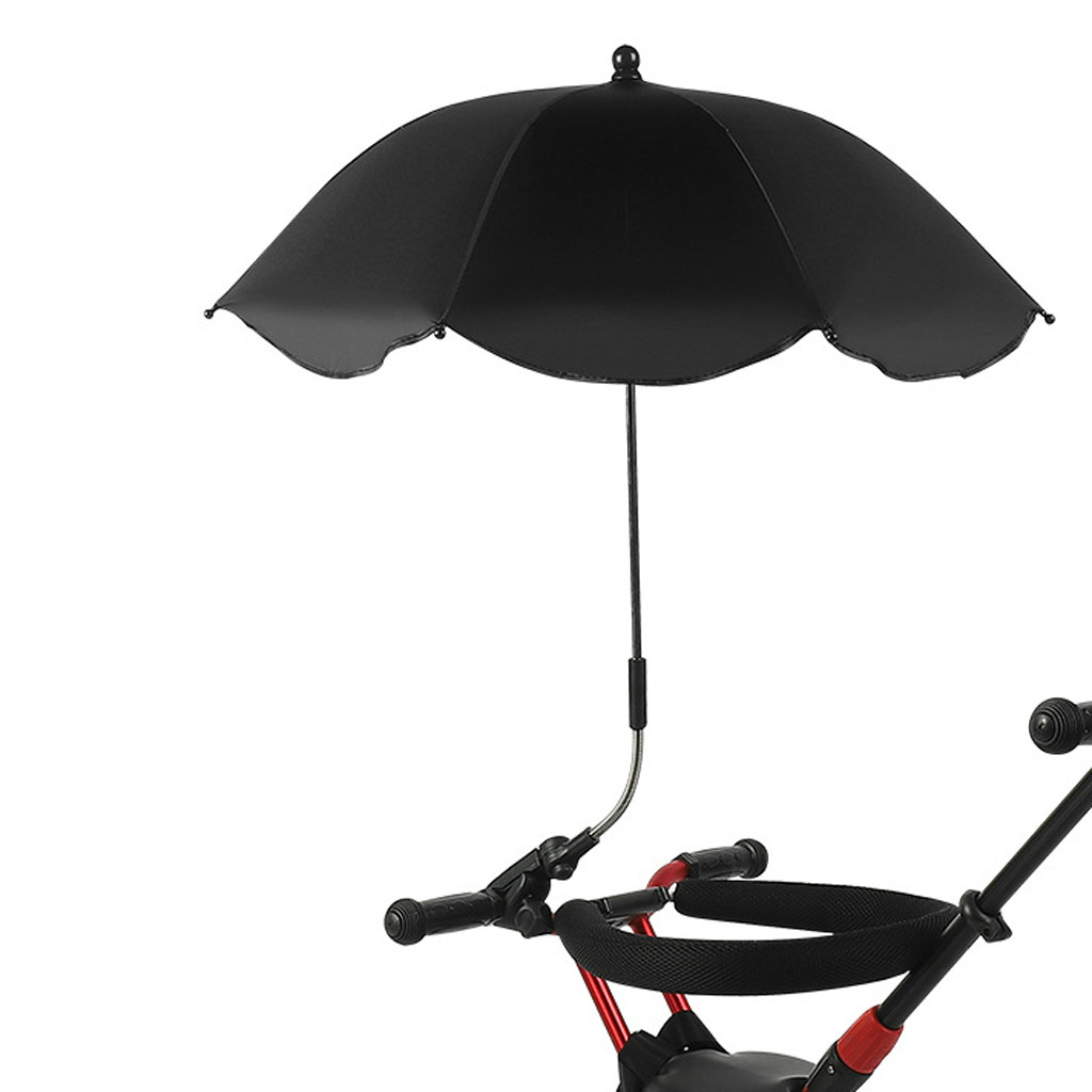 Universal Baby Pram Umbrella Shade Umbrella UV Sunshade For Stroller Pushchair pure color umbrellas Outdoor rain gear@40