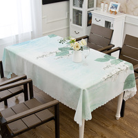 Pastoral tablecloth cloth waterproof wash free cotton linen wind tablecloth rectangular tea table table mat