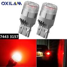 Oxilam 2 шт светодиодный автомобильный светильник 7443 w21/Светодиодная