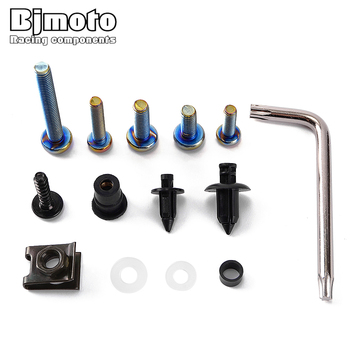 M5 M6 Universal Fairing Bolts Kits Spire Speed Kit Fastener Clips Screw Spring Nuts for most of sport pit drit bike motor parts
