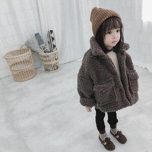 Image 5 - 女の子ジャケット厚く暖かい子供秋冬服子供男の赤ちゃんのため上着女の子コート2020幼児80〜綿130