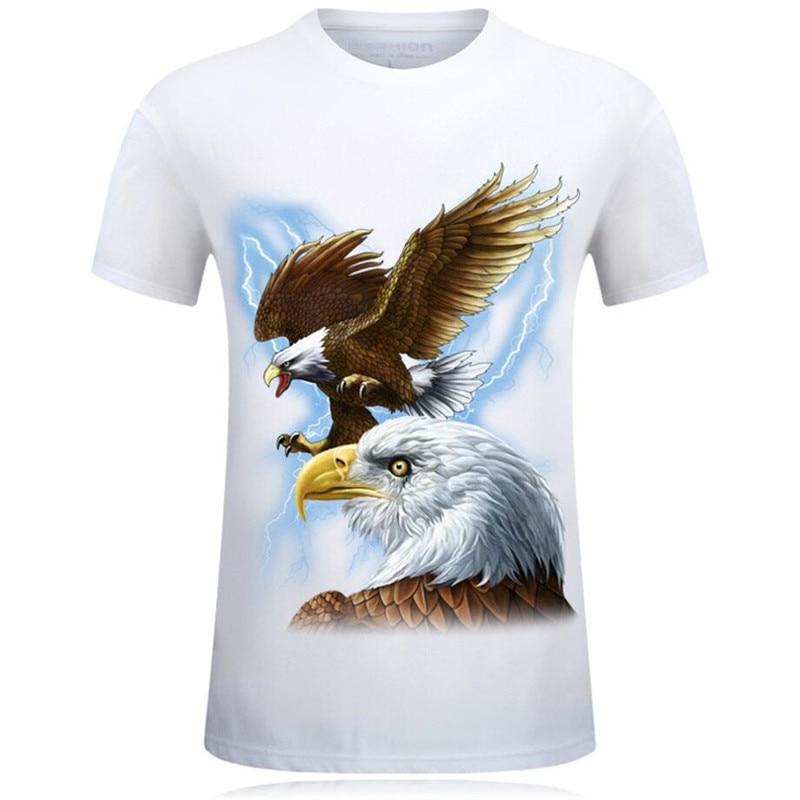 Bella Estate di Modo 3D Divertente T Camicette Uomini Animale Cotone Stampato Manica Corta O Neck T Camicette Punk Maschio Magliette e camicette magliette Camisetas 7XL - 6