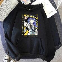 Sweat-shirt à capuche pour femmes, imprimé de dessin animé coréen, Mushoku Tensei Roxy, surdimensionné, mode d'automne