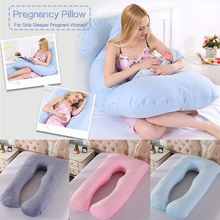 Зимние женщин беременных подушка большой размер комфорт U всего тела подушка для беременных Беременность Кристалл бархатные подушки кровати жена подарок
