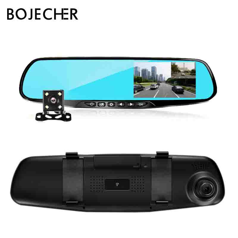 Full HD 1080P Car <font><b>DVR</b></font> Dual Lens Car Camera <font><b>Dvr</b></font> Rearview Mirror 4.3 Inch Digital Video Recorder Dash <font><b>cam</b></font> Auto Registrator image