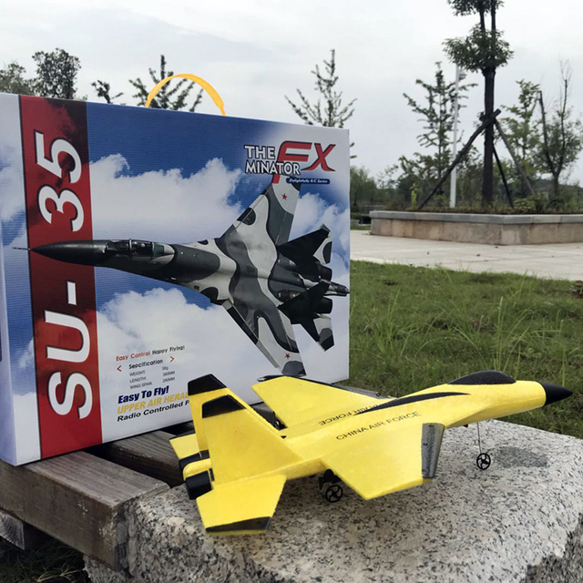 2.4G Glider RC drone SU35 Fixed wing airplane Hand Throwing foam dron Electric Remote Control Outdoor RC Plane toys for boys F22 1
