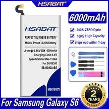 HSABAT 6000mAh Bateria para Samsung Galaxy S6 EB-BG920ABE SM-G920 G9200 G920f G920i G920A G9208 G9209 G920 G920V G920T G920P