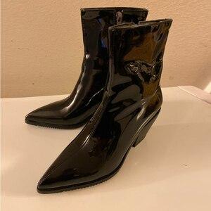 Image 3 - ¡Novedad! SARAIRIS botines de talla grande, 31 46, color negro, charol Pu, botines de moda para mujer, Botines Chelsea, botas para mujer 2020, zapatos de tacón alto para mujer