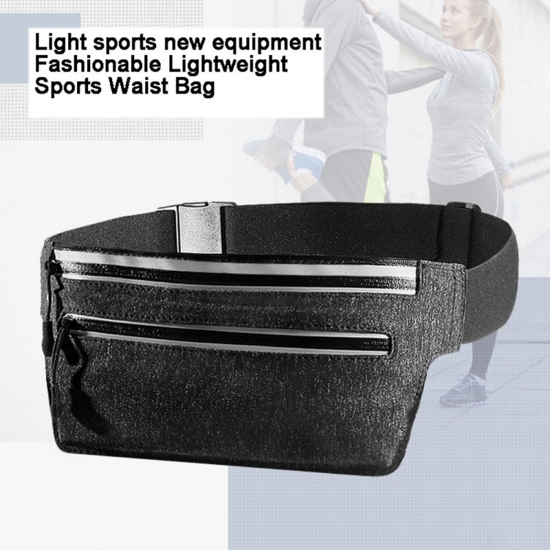 New Fashion Sports Waist Pack Neutral Waterproof Bag Multi-function Mobile Phone Bag