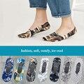 Модные мужские невидимые носки 5 пар, крутые мужские носки с цифровой печатью, забавные мужские носки в стиле хип-хоп, мужские хлопковые носк...