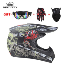WINTUWAY Motorcycle Adult Motocross Off Road Helmets ATV Dirt Bike Downhill MTB DH Racing Helmet Cross Helmet S M L XL цена