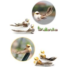 12 Pcs Artificial Foam Feather Simulation Bird Home Garden Wedding Decoration