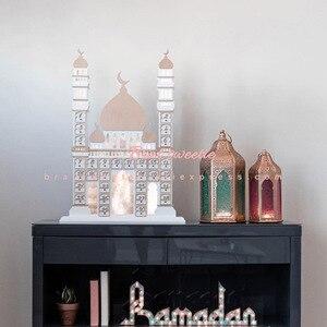 Image 3 - Décoration de fête musulmane islamique pour la maison, avec Tracker EID Mubarak, calendrier compte à rebours en bois Maulid al nabi