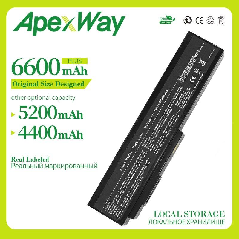 Apexway 6 célula de Bateria para ASUS N53Jn N53Jq N53Jf N53Jg N53JL N53SD N53SN N53SV X5M x5MJF B43 B43F B43J N43JQ n43Jg N43SD N43SL