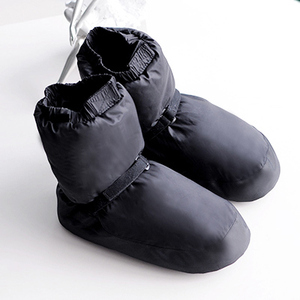 Image 4 - Kış bale ulusal dans ayakkabıları yetişkinler için Modern dans pamuk ısınma egzersizleri isıtıcı balerin çizmeler